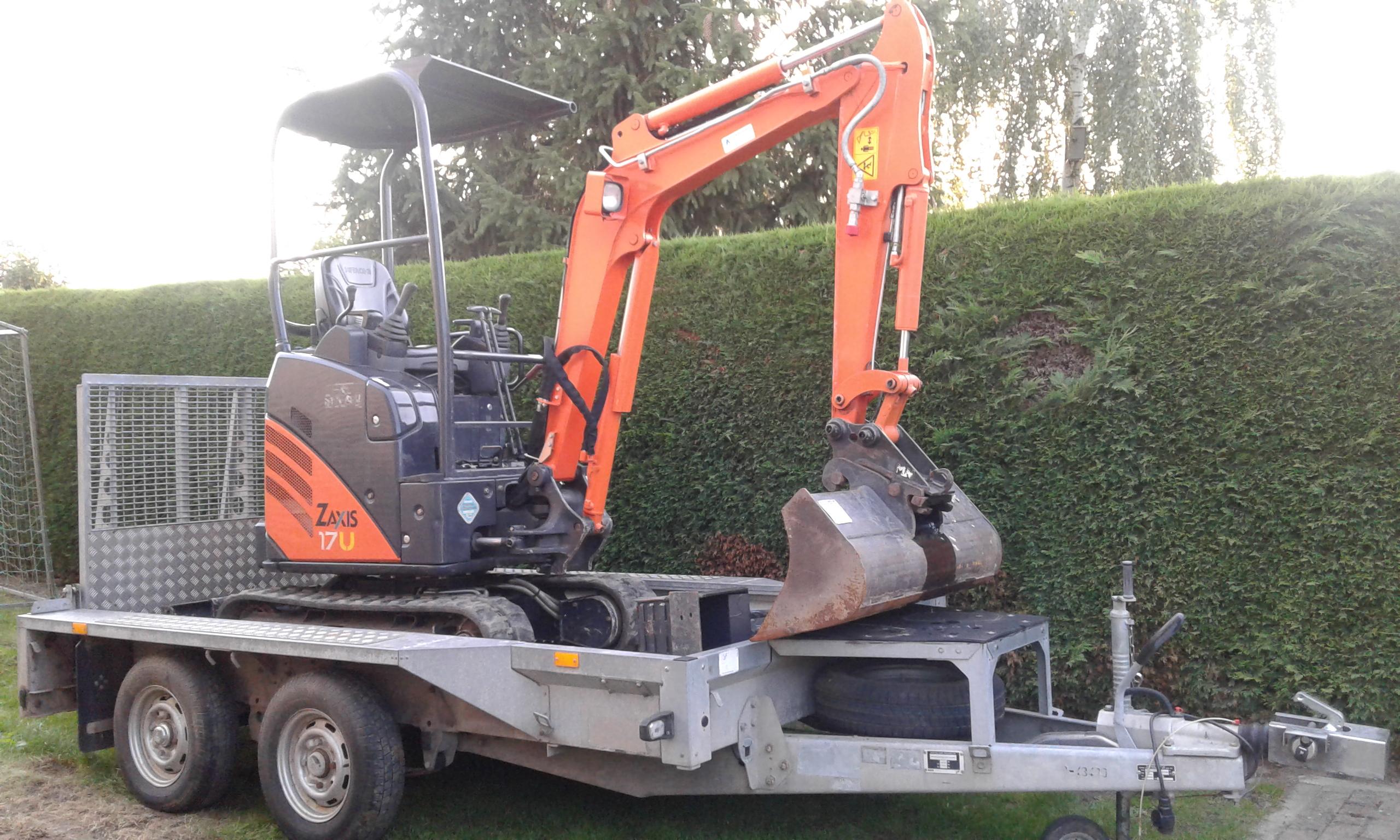 Minigraver 1700 kg Hitachi ZX 17U-2